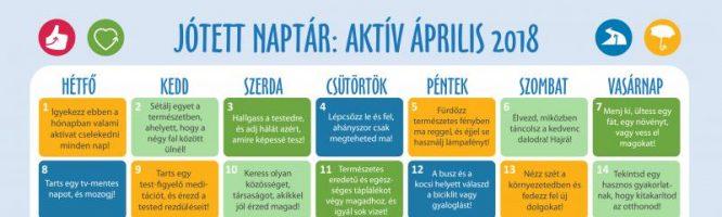 Boldogság naptár az aktív áprilisért